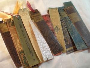 Chrbát knihy ako záložka